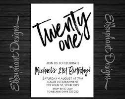21st invitations etsy