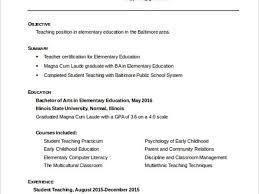 Early Childhood Education Resume Template 24 Teacher Resume Templates 25 Best Ideas About Teaching Resume