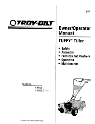 troy bilt tiller 12155 user guide manualsonline com