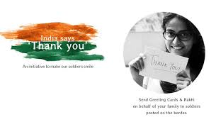 send greeting cards and rakhis to soldiers pay what you wish