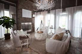 glamorous sofa slipcover in living room contemporary with white