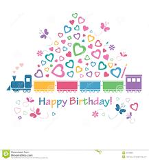 cute happy birthday train card royalty free stock photography