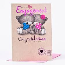 congratulations on engagement card hugs engagement card congratulations only 89p