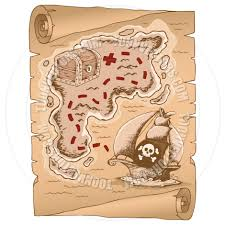 Old Treasure Map Cartoon Parchment With Treasure Map By Clairev Toon Vectors Eps