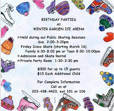 birthday parties winter garden ice arena llc