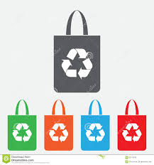 Eco Bag by Eco Bag Bag With Recycling Symbol Vector Color Icon Stock