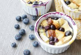 beautiful blueberry bread pudding dempstershoneywheat ad