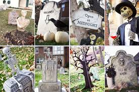 How To Make Halloween Decorations At Home Scary Halloween Lawn Decorations