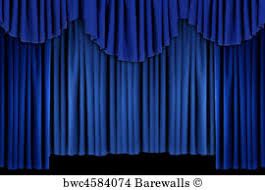Bright Blue Curtains 735 Blue Theatre Curtains Posters And Prints Barewalls