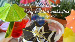 cocktail umbrellas a printable diy project youtube