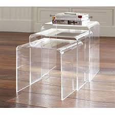 Amazoncom HomCom Pc Acrylic Stackable Nesting End Side Tables - Kitchen side table