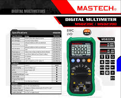 mastech ms8239c 4000 counts auto range digital multimeter dmm 4