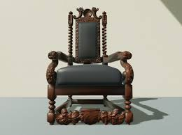 Throne Chair 3d Model Antique Throne Chair Cgtrader