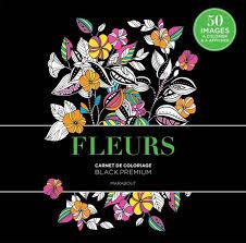 Livre Black Premium Fleurs Collectif Marabout Loisirs créatifs