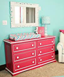 raspberry and white dresser pink beige white trim and