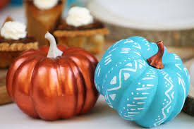 Pumpkin Decorating Without Carving Diy Decorations Tribal Pumpkin Decorating Ideas Without Carving