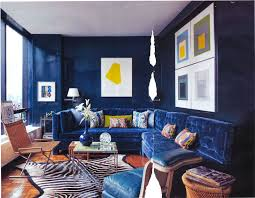 Blue Floor L Living Room Futuristic Blue Living Room Design Ideas With White