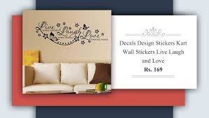 12 amazing wall decals under rs 500 renomania decals design stickers kart wall stickers live laugh and love