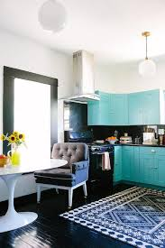 Turquoise Cabinets Kitchen Turquoise Cabinets Contemporary Kitchen Elle Decor