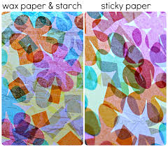 pattern making tissue paper paper stained glass for spring done 2 ways