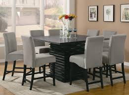 Dining Room Tables Square  Chairs Dining Rooms - Black dining table for 8