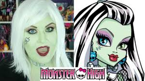 Halloween Monster High Makeup by Frankie Stein Monster High Makeup Tutorial Youtube