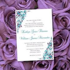 print your own wedding invitations printable wedding invitations purple teal template make