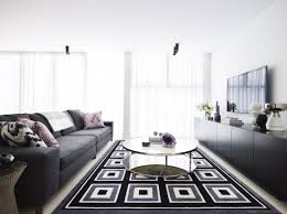 modern black grey and white interiors by color
