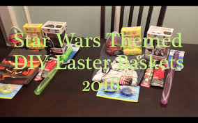 Homemade Easter Baskets by Star Wars Themed Diy Easter Baskets 2016 Youtube