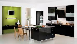 fabulous design ideas of white black modern kitchen with dazzling