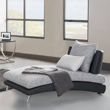 Small Upholstered Bedroom Chair Bedroom Modern Chaise Lounge Chairs With Black Leather And Grey
