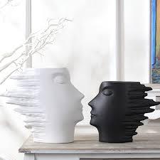 white black ceramic modern creative vase home decor crafts room