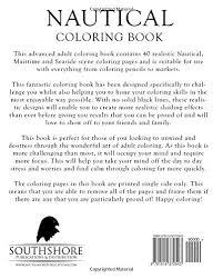 amazon nautical coloring book advanced coloring