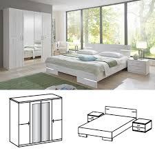 K He Landhausstil G Stig Wimex Schlafzimmer Set Anna Bett 160x200 Mit 4trg Kleiderschrank