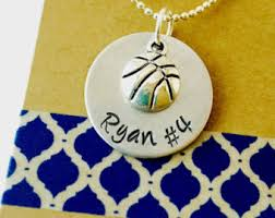 personalized basketball necklace basketball necklace etsy