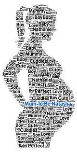 personalised word art mum to be new baby baby shower mum daughter