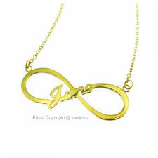 Infinity Necklace With Name Frame Design