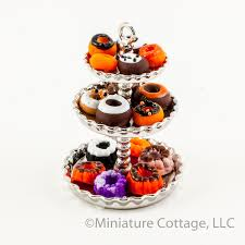 tiered halloween cakes three tiered serving tray with halloween donuts and cakes ka80006