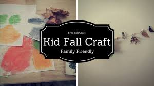kids fall craft collab family fun for free youtube