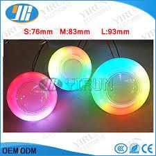 edge lighting change color multicolour led push button illuminated edge automatic color change