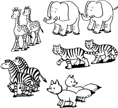 color animals coloring page coloring page blog