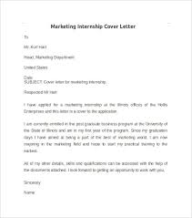 Download Writing Cover Letter For Internship by Sample Cover Letter For Marketing Internship Sample Millwright