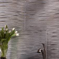 Fasade Waves  X  PVC Backsplash Panel Kit In Brushed - Pvc backsplash