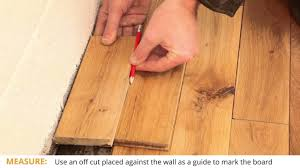 Laminate Flooring Installation Guide Wooden Flooring How To Fit The Last Row And Board Youtube