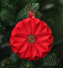 felt christmas ornaments poinsettia felt christmas ornament diy candy