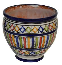 decoration contemporary flower pot moroccan garden ceramic