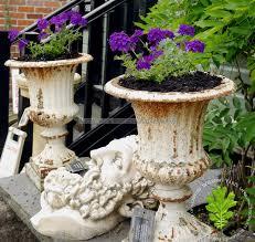 pair of cast iron garden planters wilsonsyard com