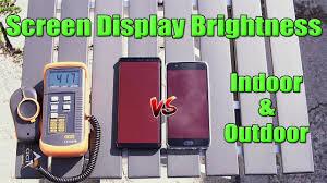 samsung note 8 vs oneplus 5 screen display brightness test indoor