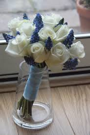 wedding flowers m s flowers by vicki beautiful blue and white wedding flowers josh