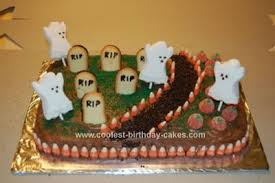 Cool Homemade Halloween Graveyard Cake Graveyard Cake Halloween